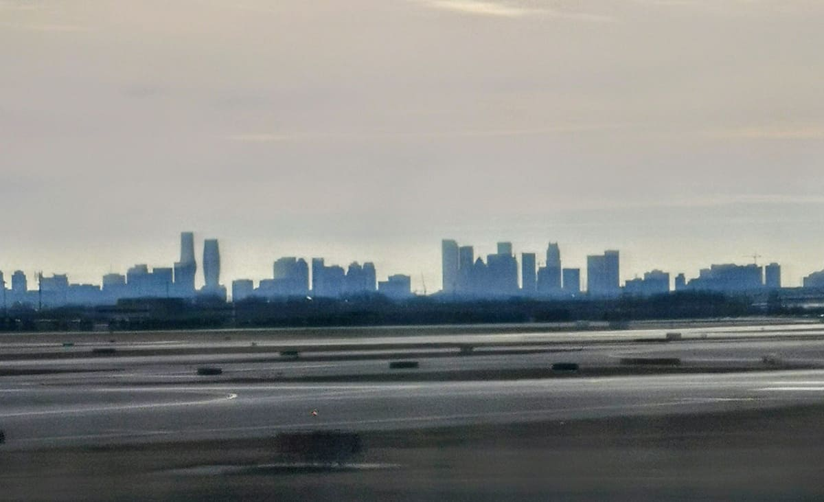 Mississauga skyline from Pearson Airport