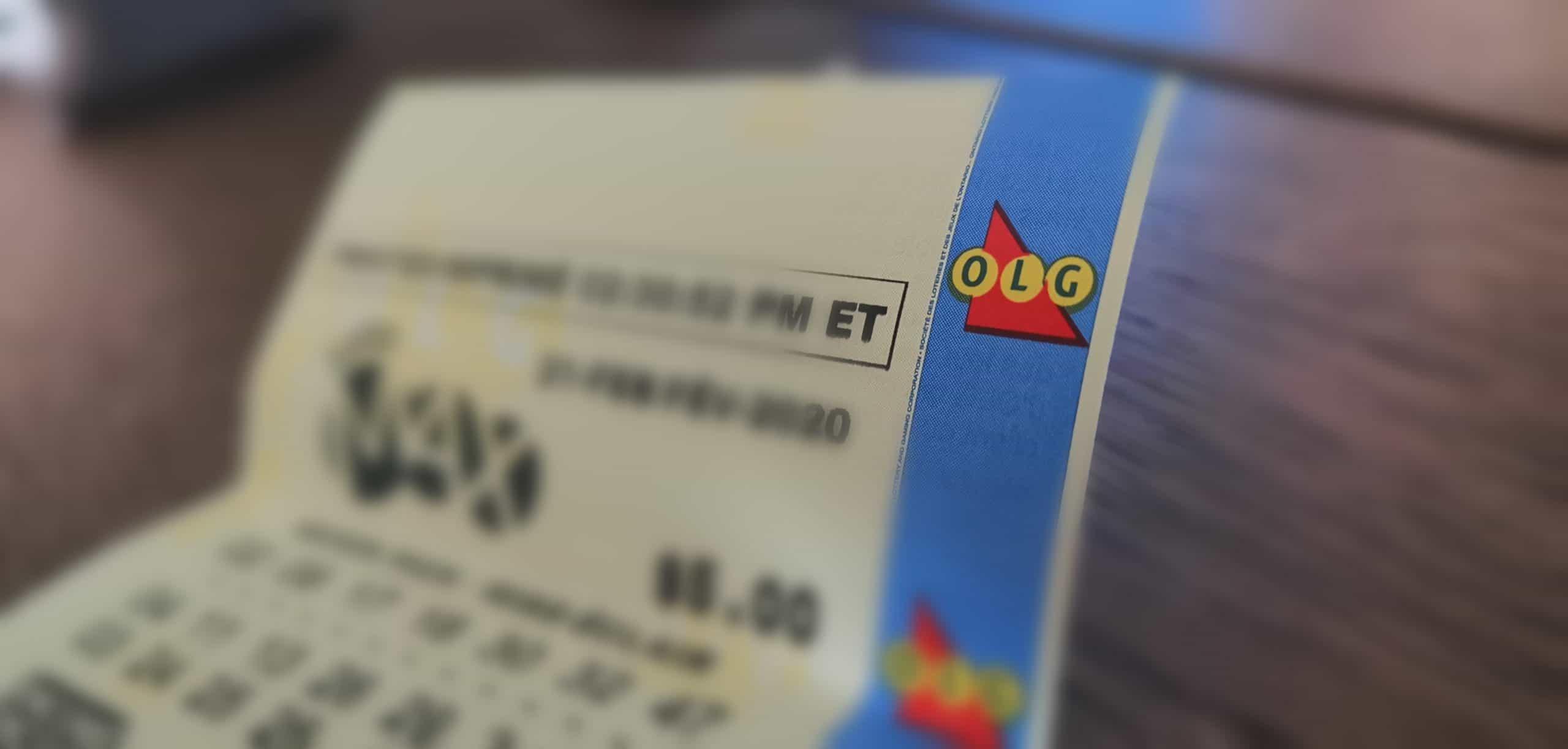 LottoMax ticket