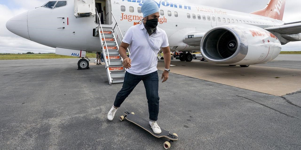 Jagmeet Singh Skateboarding