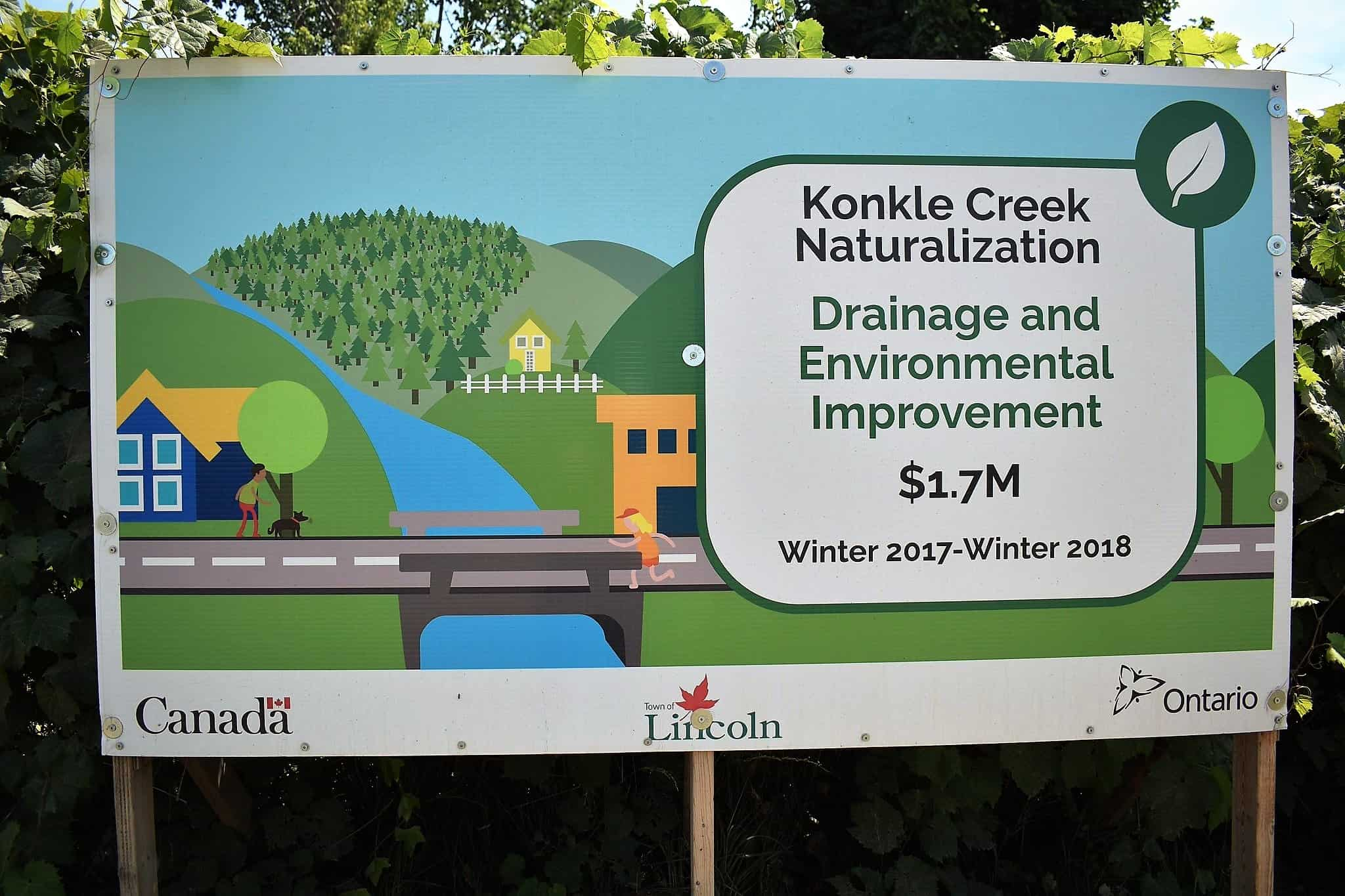 The Konkle Creek Naturalization Project has been going on for 10 years and is now complete.